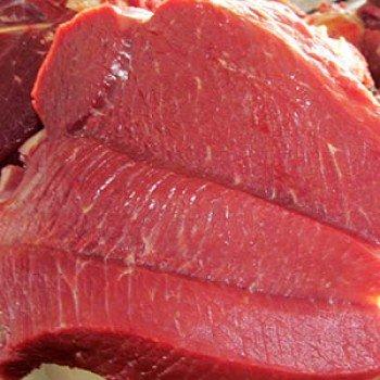 Viande de bœuf local frais avec os